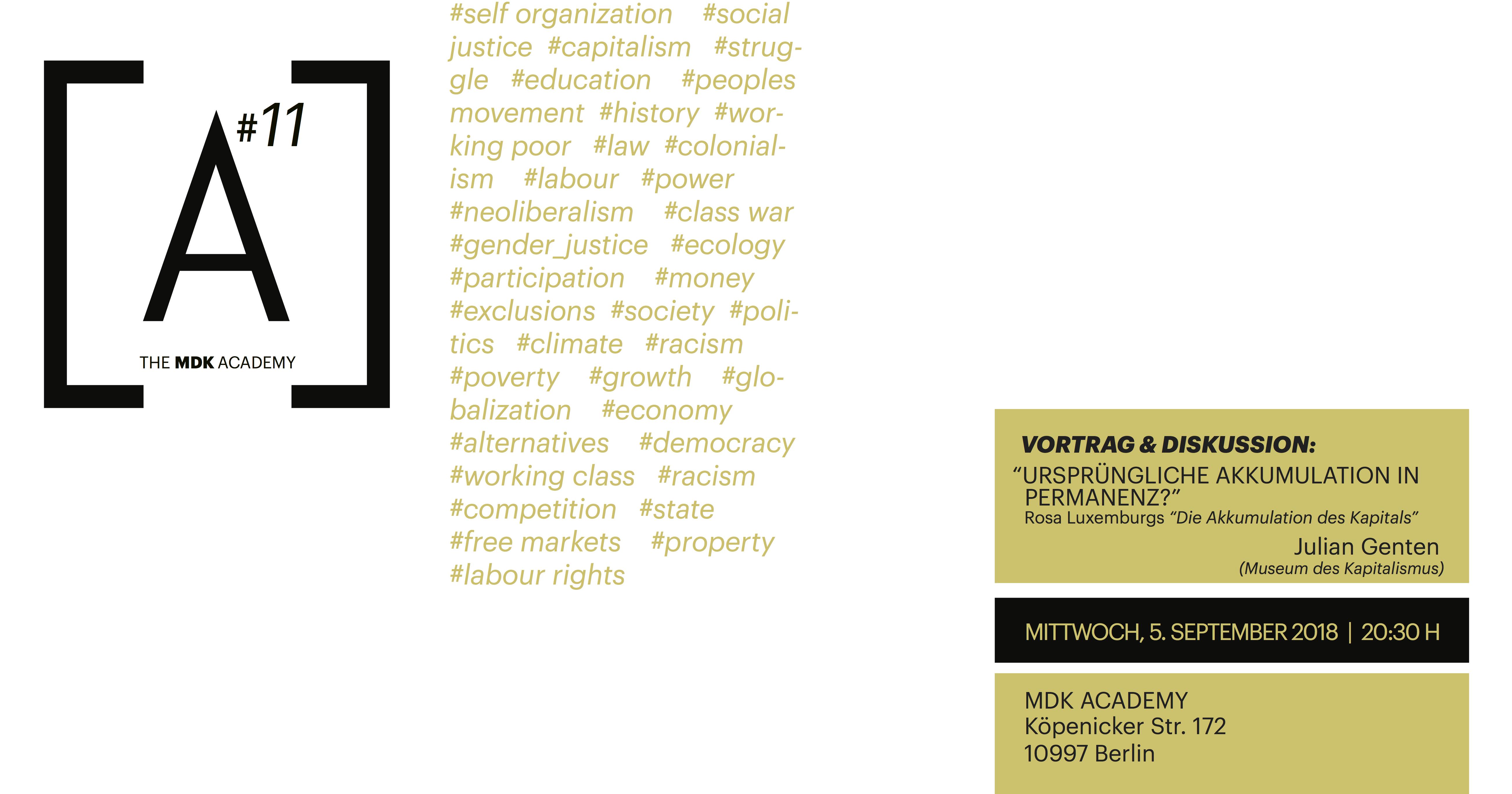 MDK Academy #11 - Museum of Capitalism